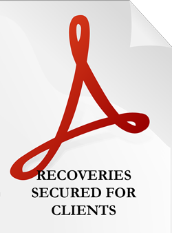 Recoveries Secured For Clients